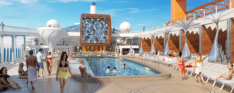 Celebrity Edge pool area